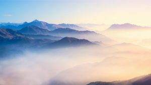 View Of Mountains In The Mist